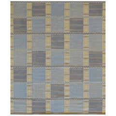 Hand Knotted Swedish Flat-Weave Rug