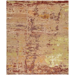 Modern Hand-Knotted Rug in Silk and Wool by  Thibault Van Renne