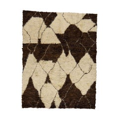 Hand Knotted Thick and Plush Pure Wool Moroccan Shaggy Rug