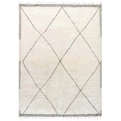Hand Knotted Tribal Style Modern Moroccan Wool Area Rug