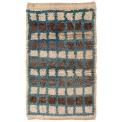 Checkerboard Design Tulu Rug. Natural Wool. Custom Options Available