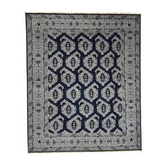 Hand Knotted Turkish Knot Boteh Design Pure Wool Rug