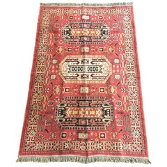 Hand Knotted Turkish Rug, Vivid Colors