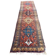 Hand Knotted Vintage Carpet Runner from Turkey