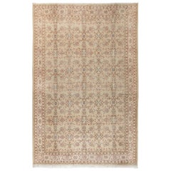 8x11.3 Ft Hand Knotted Vintage Central Anatolian Area Rug with Floral Design