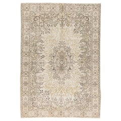 Hand Knotted Vintage Oushak Area Rug Ideal for Office and Home Decor