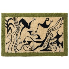 Hand Knotted Wool Abstract Tapestry, circa 1950