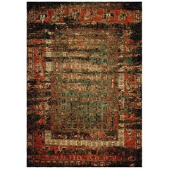 Hand Knotted Wool and Silk Rug from Pazyryk Reborn by Gordian Rugs