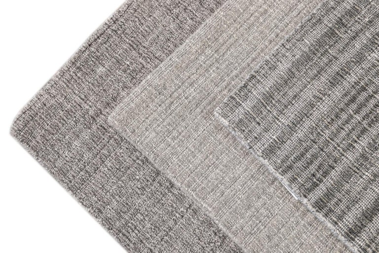 Solid-colored wool textured custom rug. Custom sizes and colors made-to-order.   Material: Wool Lead Time: Approx. 15-20 weeks available Colors: As shown, other custom colors and styles available Made in Tibet  Price listed is for an 8' x 10'