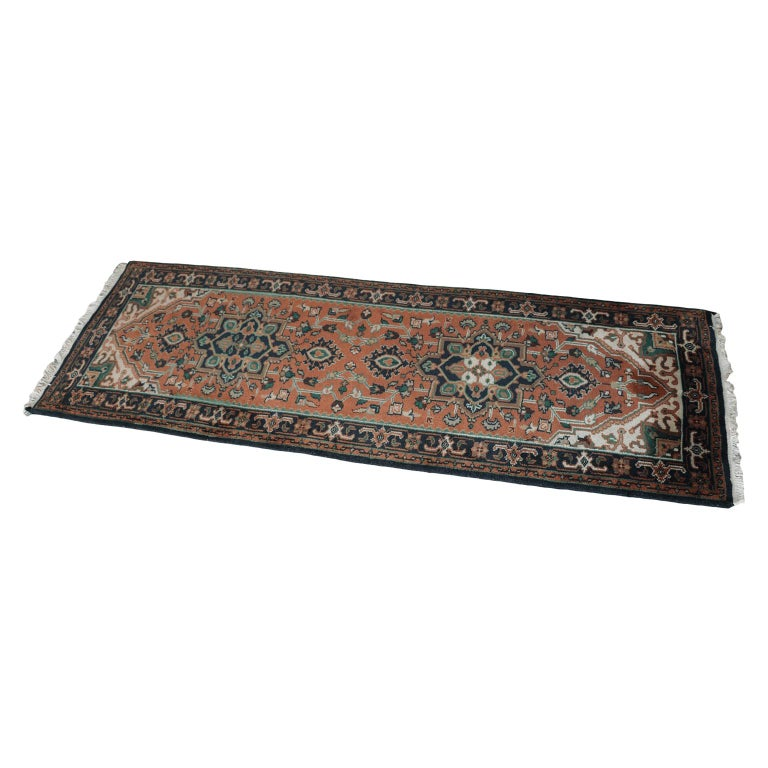 Hand Knotted Wool Rug For Sale
