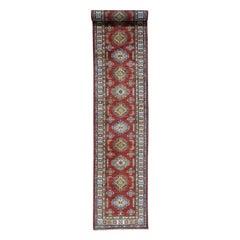 Hand Knotted XL Runner Super Kazak Pure Wool Oriental Rug