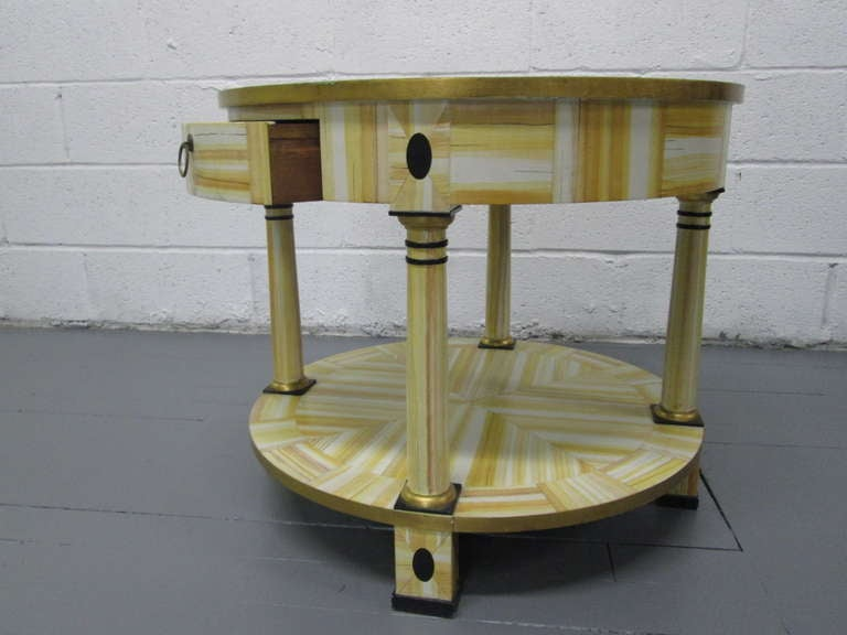 Hand painted lacquered table by Alessandro for Baker Furniture Company.