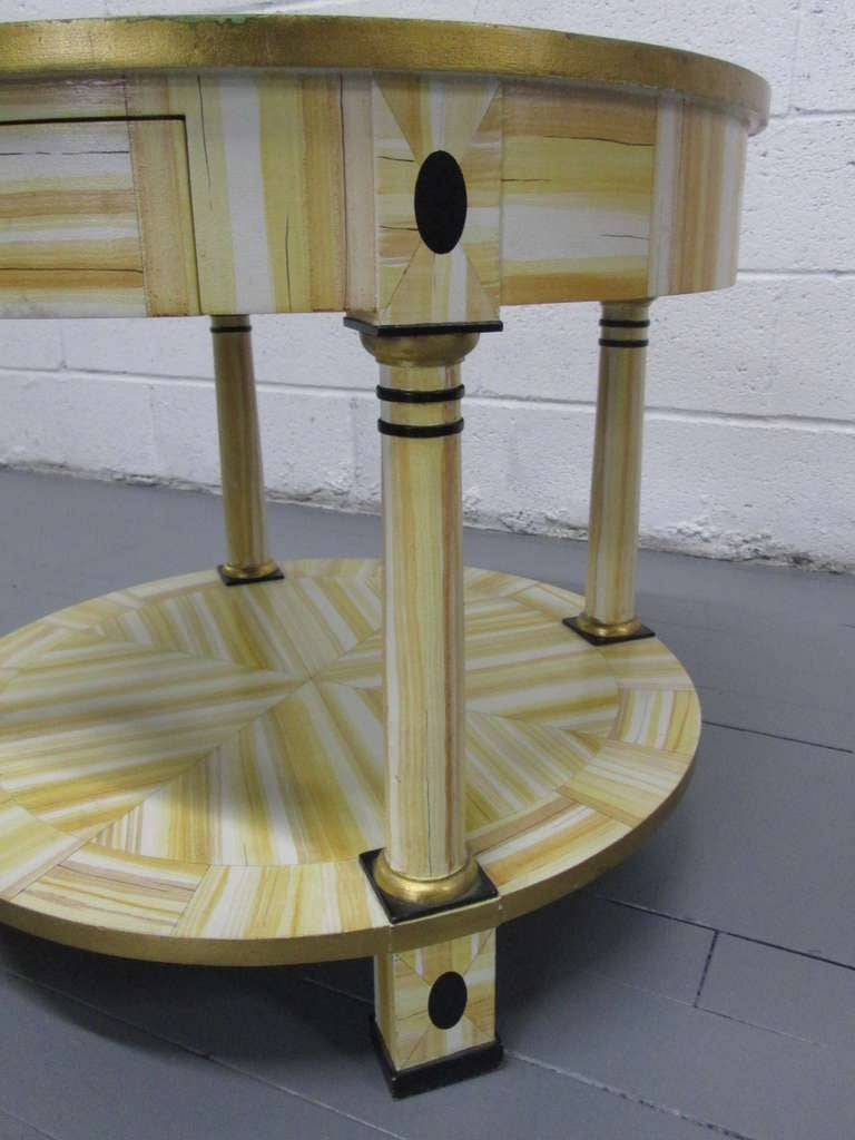 Modern Hand Lacquered Table by Alessandro for Baker Furniture Company For Sale