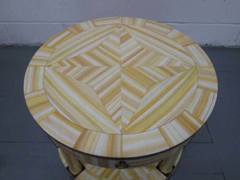 American Hand Lacquered Table by Alessandro for Baker Furniture Company For Sale