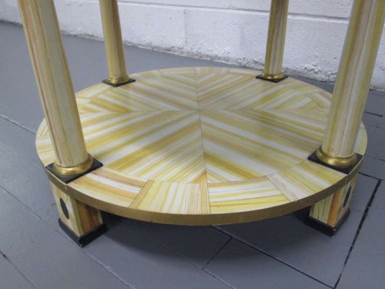 Hand Lacquered Table by Alessandro for Baker Furniture Company In Good Condition For Sale In New York, NY