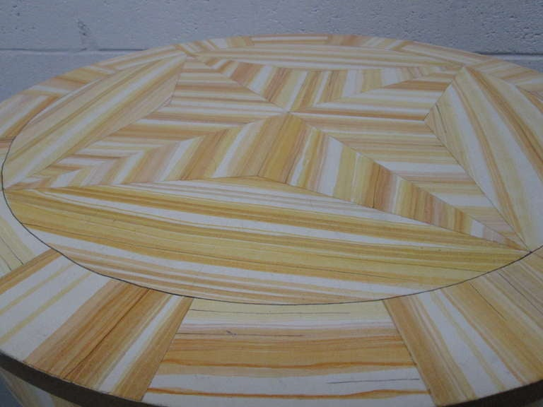 Late 20th Century Hand Lacquered Table by Alessandro for Baker Furniture Company For Sale