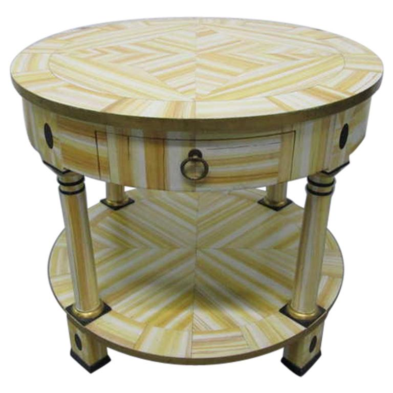 Hand Lacquered Table by Alessandro for Baker Furniture Company For Sale