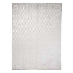 Hand-Loomed Art Silk Tone on Tone Oriental Rug