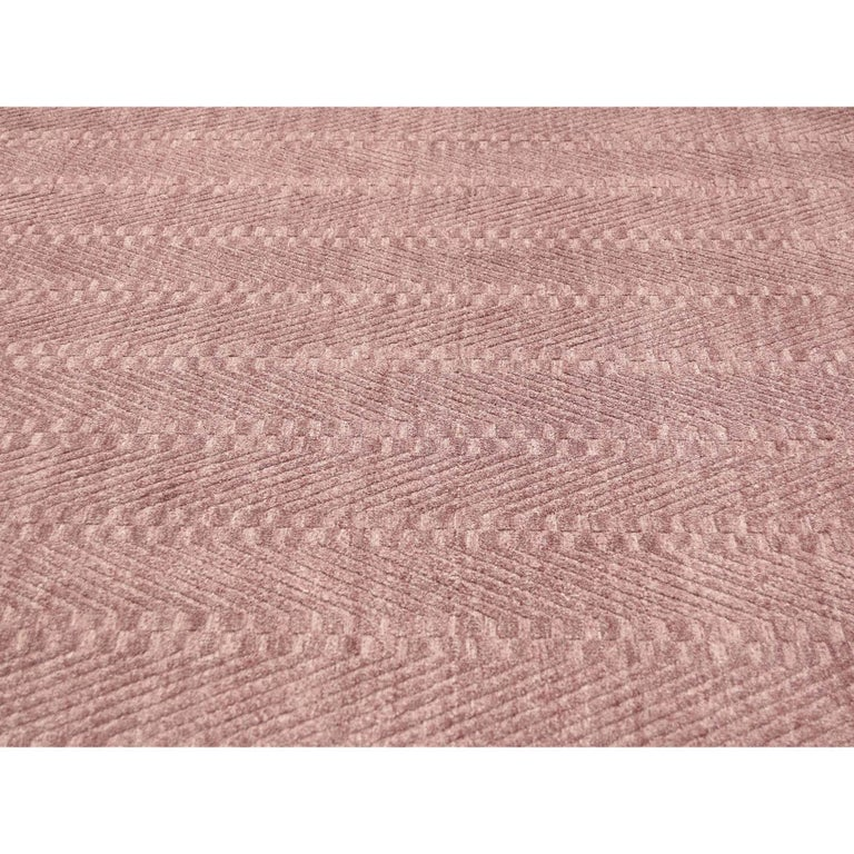 Hand-Loomed Pure Wool Tone on Tone Oriental Rug For Sale 2