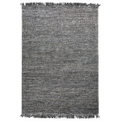Hand Loomed Super Soft Customizable Karma Rug in Charcoal Large