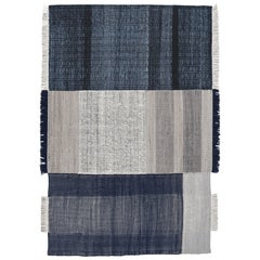 Hand-Loomed Tres Rug in Blue by Nani Marquina & Elisa Padron, Extra Large