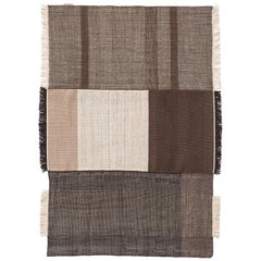 Hand-Loomed Tres Rug in Chocolate by Nani Marquina & Elisa Padron, Extra Large