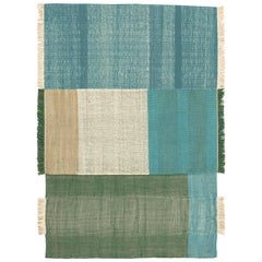 Hand-Loomed Tres Rug in Green by Nani Marquina & Elisa Padron, Extra Large