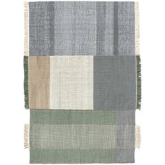 Hand-Loomed Tres Rug in Sage by Nani Marquina & Elisa Padron, Extra Large