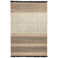 Hand-Loomed Tres Stripes Rug in Black by Nani Marquina & Elisa Padro Extra Large