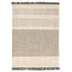 Hand-Loomed Tres Stripes Rug in Pearl by Nani Marquina & Elisa Padro, Large