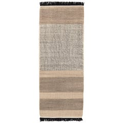 Hand-Loomed Tres Stripes Runner in Black by Nani Marquina & Elisa Padro