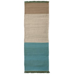 Hand-Loomed Tres Stripes Runner in Green by Nani Marquina & Elisa Padro