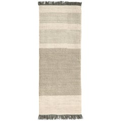 Hand-Loomed Tres Stripes Runner in Pearl by Nani Marquina & Elisa Padro
