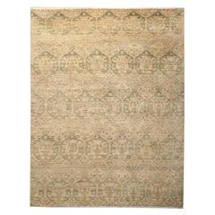 Handmade Carpet Contemporary Oriental Rug Damask Modern Rug