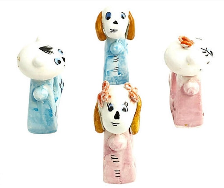 Handmade Cat and Dog Napkin Rings Set of 10 For Sale 4