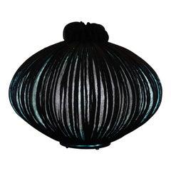 Hand-Made Coal Pleated Silk Suuria Son Pendant Light