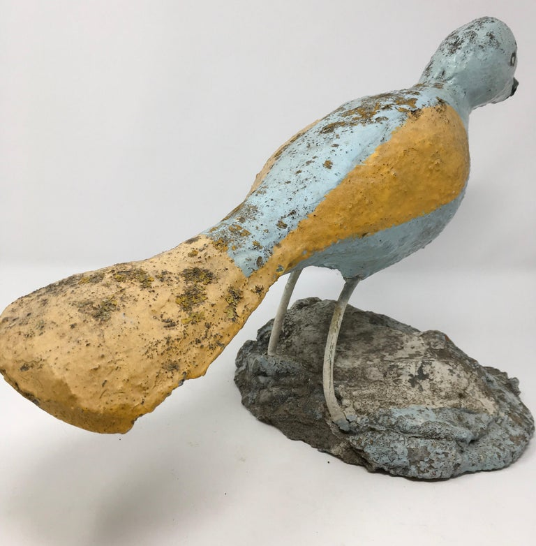 Handmade Concrete Bird In Good Condition For Sale In Houston, TX