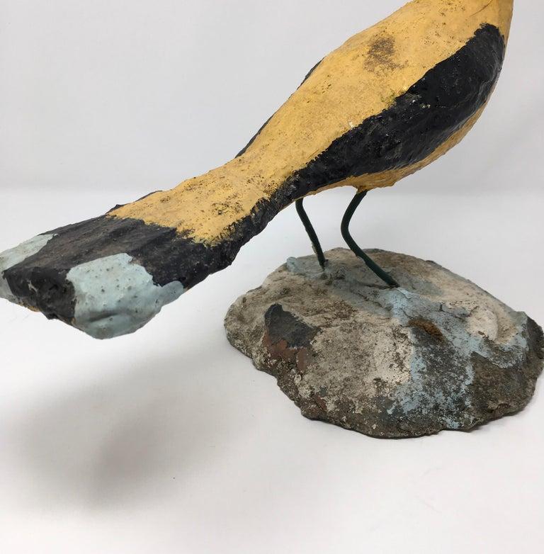 20th Century Handmade Concrete Bird For Sale