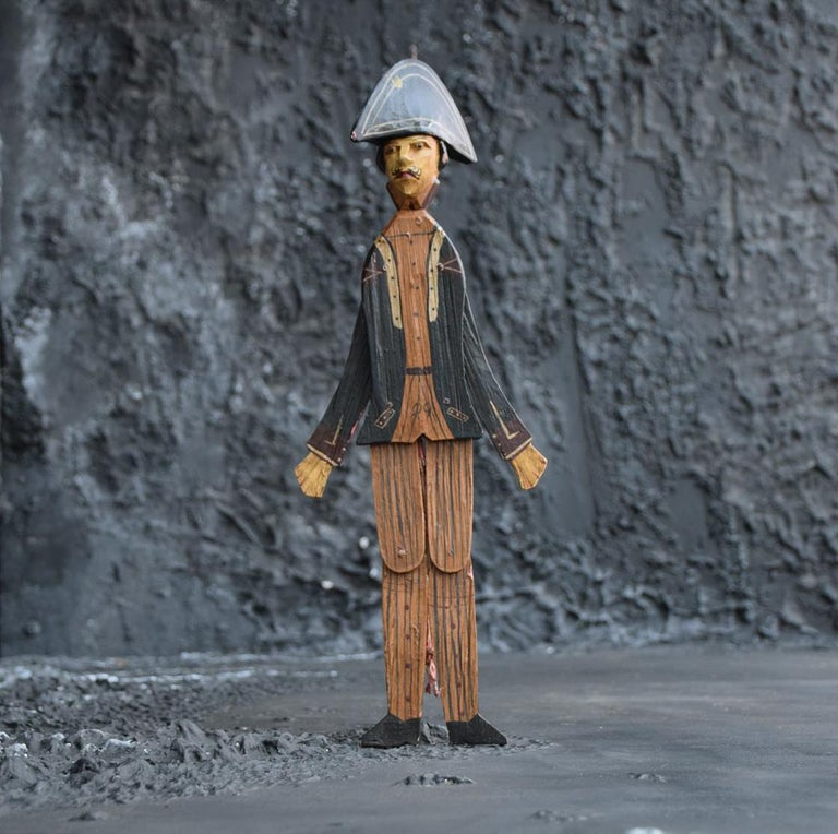 Late 19th Century Hand Made German Folk Art Jumping Jack Soldier Toy Figure, circa 1890 For Sale