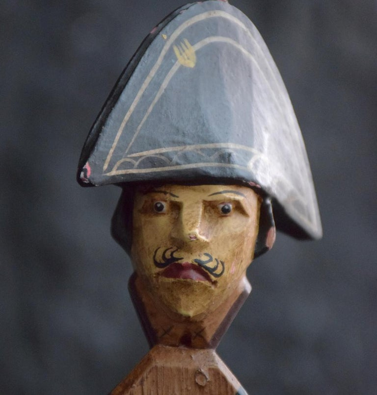 Hand Made German Folk Art Jumping Jack Soldier Toy Figure, circa 1890 For Sale 2