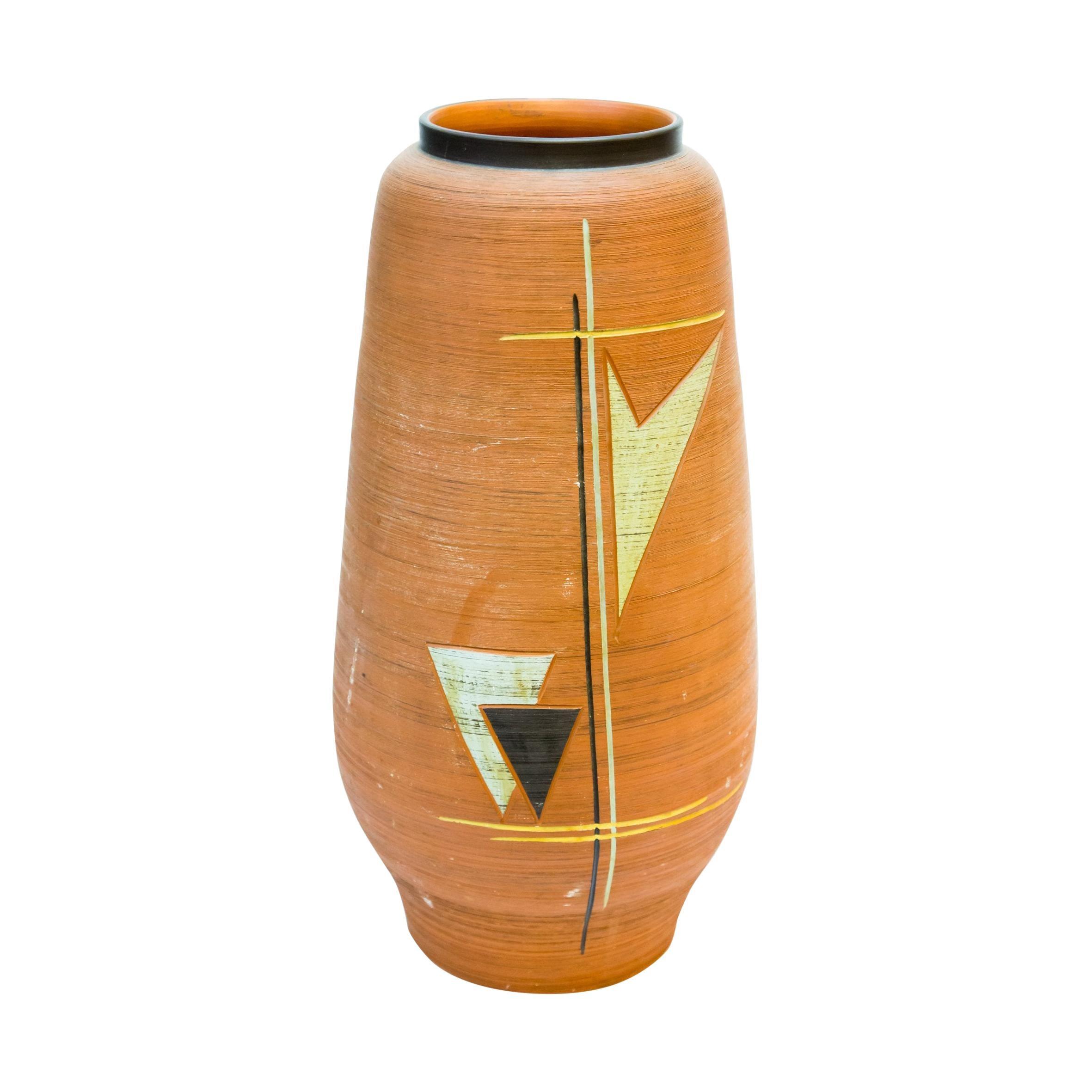 Handmade German 1960s Ceramic Floor Vase, 1960s