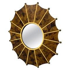 Handmade Horn Mirror with Inlay