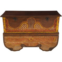 Bespoke Indian Carved Storage Chest, Console