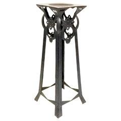Handmade Jugendstil Steel Pedestal, from 1900-1910