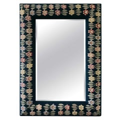Handmade Large Floral Tapestry Mirror
