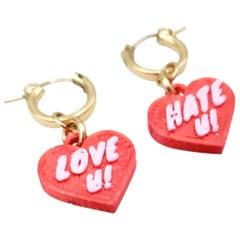Hand-made Love U Hate U Earrings by Dominique Renée