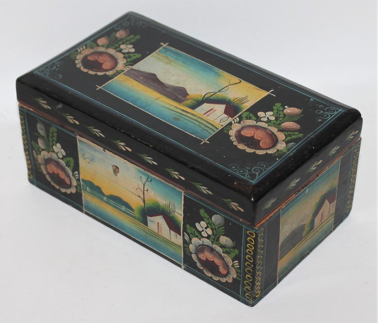 Handmade Mexican Boxes Set of Three For Sale 8