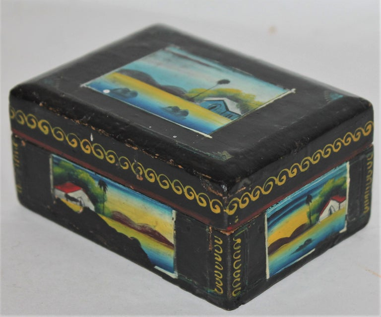 Handmade Mexican Boxes Set of Three For Sale 12