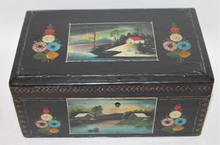 Handmade Mexican Boxes Set of Three For Sale 1