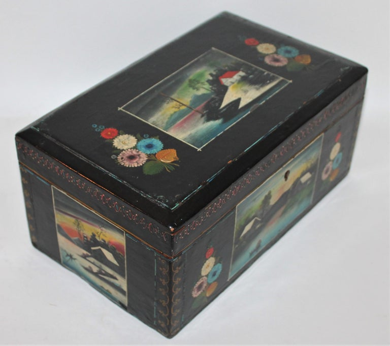Handmade Mexican Boxes Set of Three For Sale 4